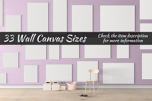 Canvas Mockups Vol 50