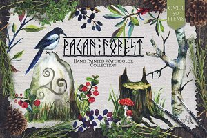 Pagan Forest Watercolor Kit