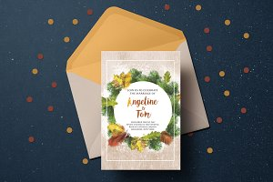 Warm Autumn Wedding Invitation Suite