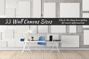 Canvas Mockups Vol 54