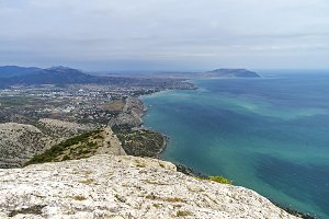 Crimean coast, areal view.