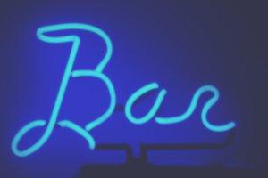 Blue Neon Bar Light