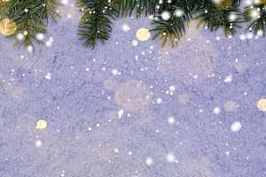 new year background on snow