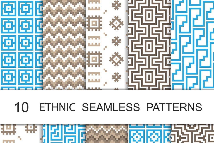 Simple Line Geometric Patterns ~ Graphic Patterns ~ Creative Market