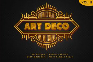 Art Deco - Vintage Badges Vol. II