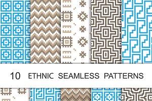 Seamless Geometric Patterns Set 4