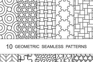 Seamless Geometric Patterns Set 6