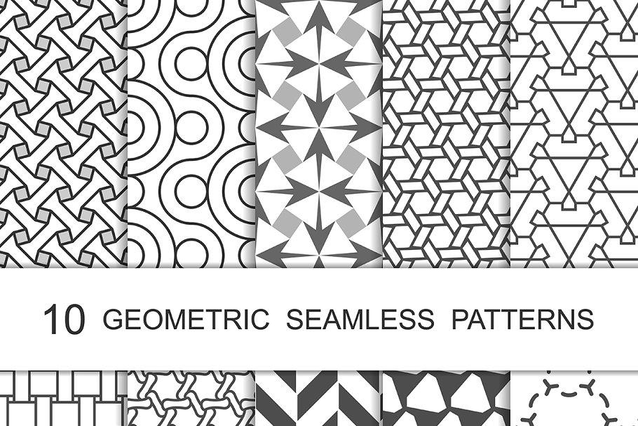 Simple Line Geometric Patterns ~ Graphic Patterns ~ Creative Market