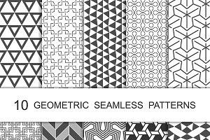 Seamless Geometric Patterns Set 8