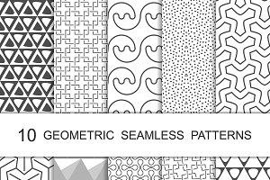 Seamless Geometric Patterns Set 10