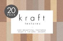 Kraft Card Textures - 20 Pack