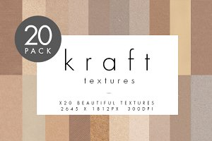 Kraft Card Textures - 20 Pack