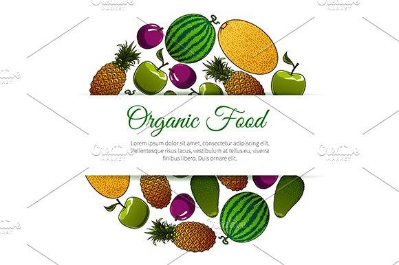 Organic Food Fruits Banner