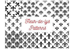 Heraldic seamless patterns