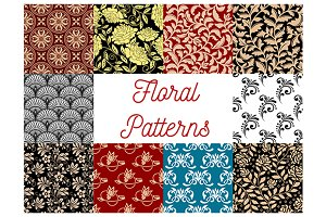 Floral seamless decor patterns