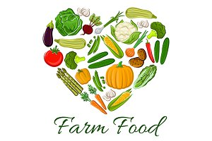 Farm Food vegetables heart