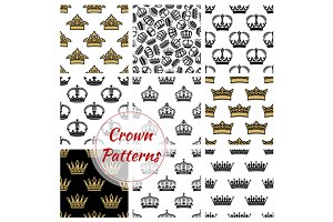 Vector patterns of royal crowns