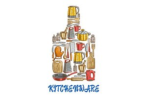 Kitchen utensil and kitchenware