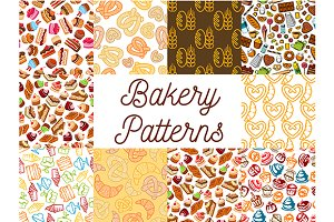 Bakery and patisserie patterns