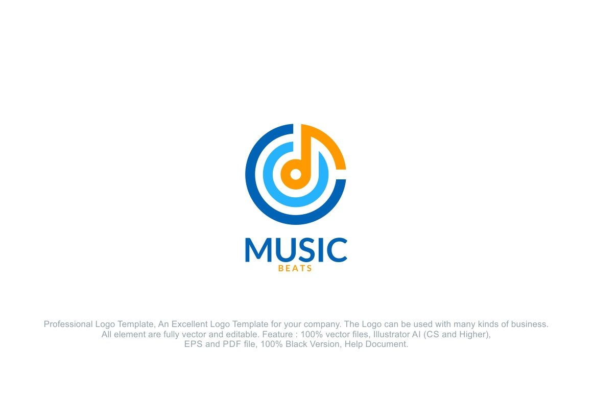 music sound beat logo logo templates creative market