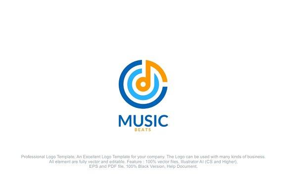 Music sound beat logo logo templates creative market wajeb Gallery