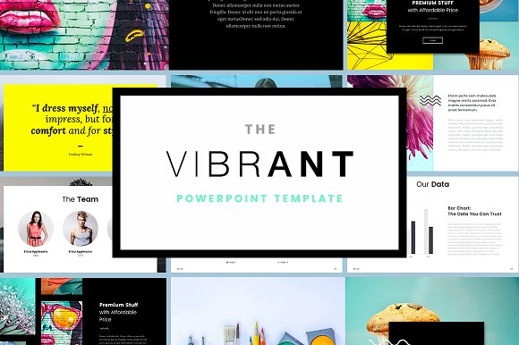 The vibrant powerpoint template presentation templates the vibrant powerpoint template presentation templates creative market toneelgroepblik Gallery