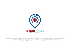 Local Clinic - Health Pin Logo