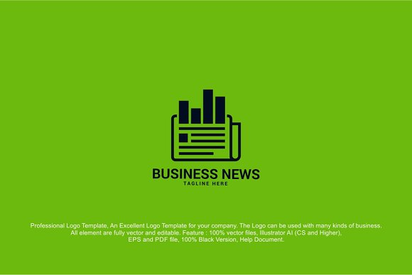Business News Logo ~ Logo Templates ~ Creative Market