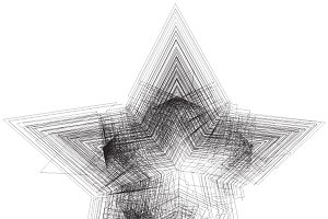 Grunge tangled five point star
