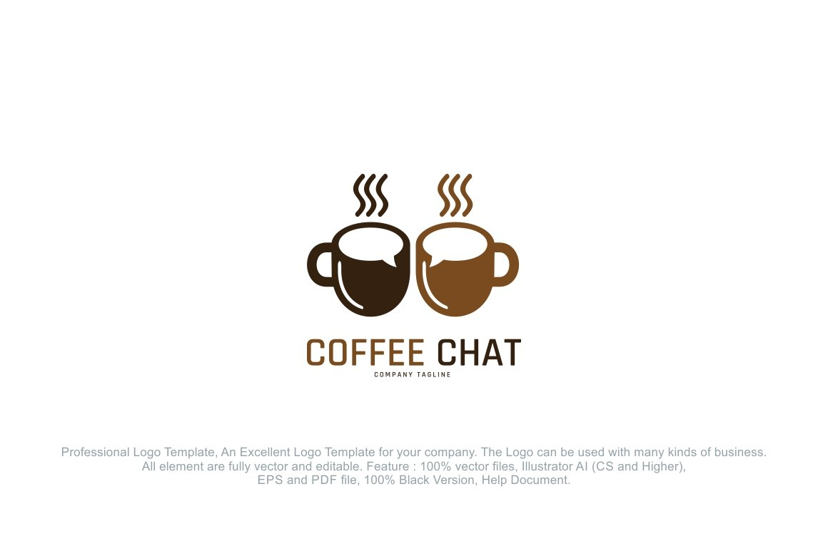 Coffee Chat Logo ~ Logo Templates ~ Creative Market
