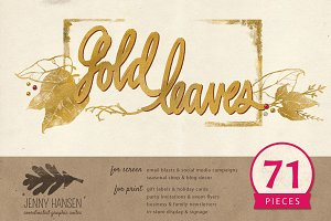 Graphics Bundle: Gold Leaves