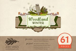 Graphics Bundle: Woodland Winter