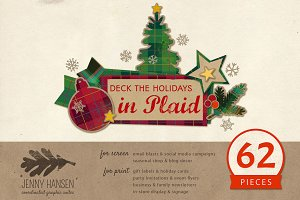 Graphics Bundle: Plaid Holidays