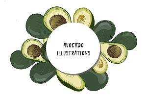 Avocado illustrations