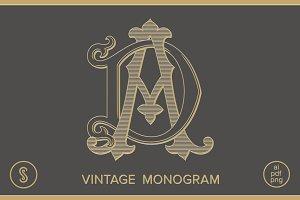 AD monogram DA Monogram