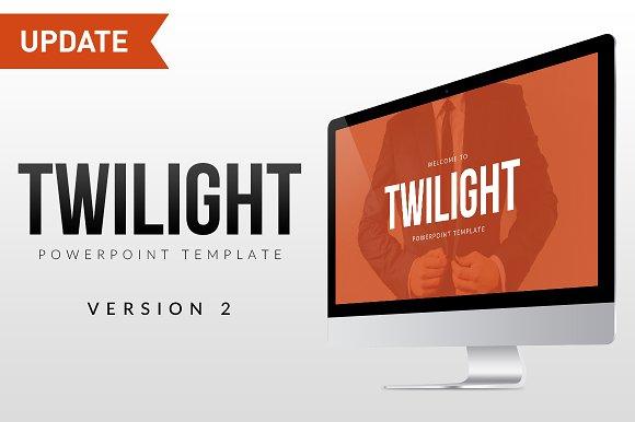 Twilight powerpoint template presentation templates creative twilight powerpoint template presentations toneelgroepblik Choice Image