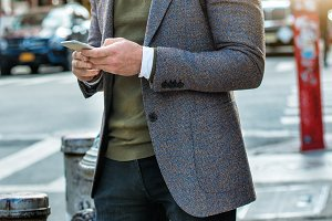 Men`s fashion casual street style