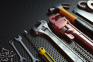 work tools. 3D render.