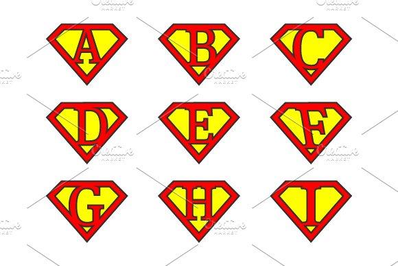 Super Alphabet Letters Illustrations Creative Market