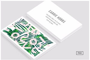 Palm Pastel Business Card Template