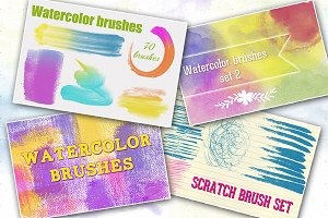 Bundle Watercolor Brushes