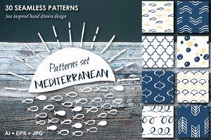 Mediterranean 30 hand drawn patterns