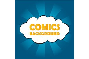 Abstract blue comics background