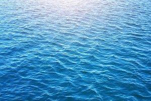 Deep blue water sea texture