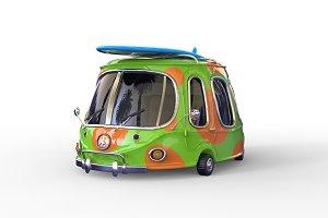 3D surf minivan