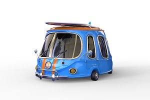 3D cartoon surf car