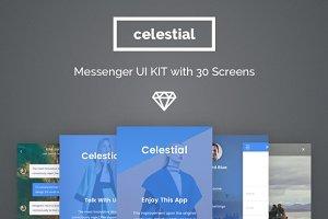 Celestial Messenger App UI Kit