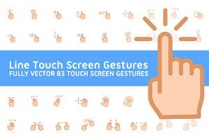 83 Line Touchscreen Gestures