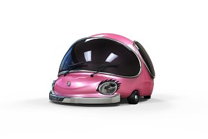 3D cartoon pink girl car