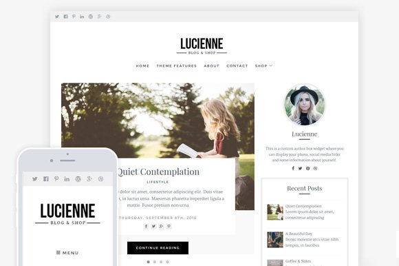 Lucienne / Blog & WooCommerce Theme